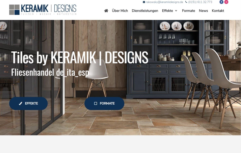 KeramikDesigns – Neue Webseite